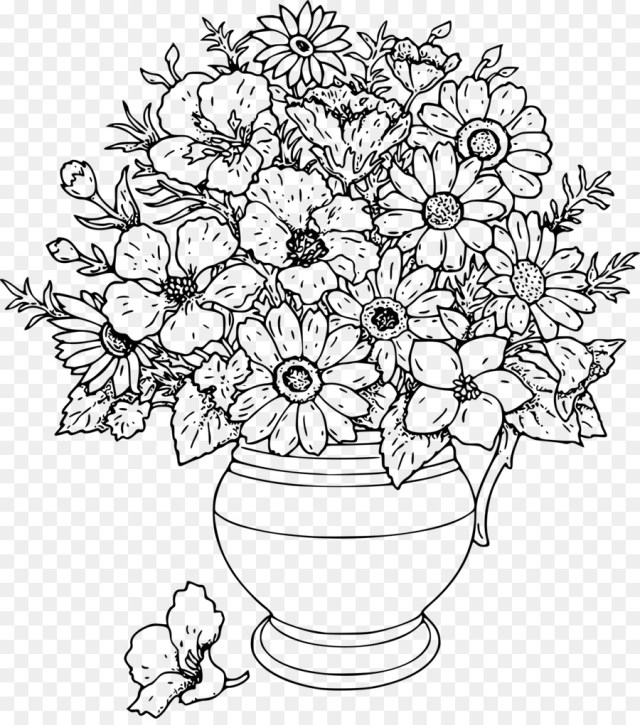 Flower Adult Coloring Pages Coloring Pages Adults Coloring Pages Flowers Coloring Book For