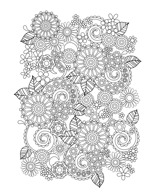 Flower Adult Coloring Pages Flower Coloring Pages For Adults Best Coloring Pages For Kids