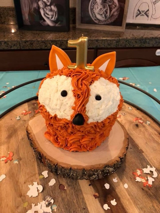 Fox Birthday Cake Fox Smash Cake Cakecentral