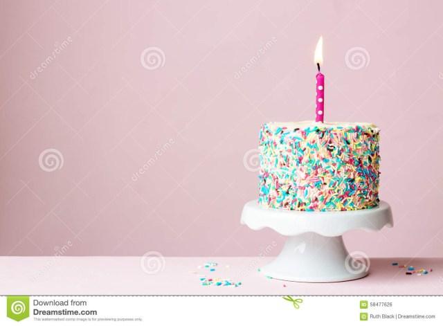 Free Birthday Cake Birthday Cake Stock Photo Image Of Cakestand Against 58477626