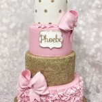 Girls First Birthday Cake 6 First Birthday Cakes Pink And White Photo White And Pink 1st