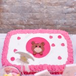 Girls First Birthday Cake Ba Girl First Birthday Cake With Teddy Bearimage Of A Stock Photo