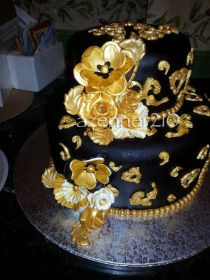 Gold Birthday Cake Black And Gold Birthday Cake The Cake It Self Was Red Velvet With