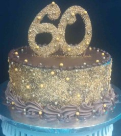 Gold Birthday Cake Gold 60th Birthday Cake Le Bakery Sensual
