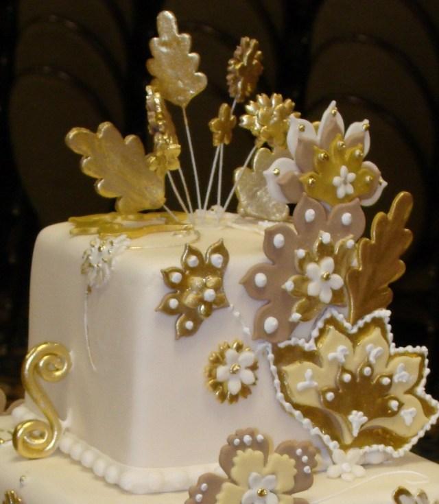 Gold Birthday Cake Gold Birthday Cake Cakeido Flickr