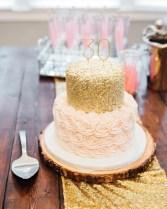 Gold Birthday Cake Nashville Sweets Blush Pink Rosettes Gold Sequin Birthday Cake