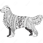 Golden Retriever Coloring Page Golden Retriever Coloring Pages 17 With Diywordpress