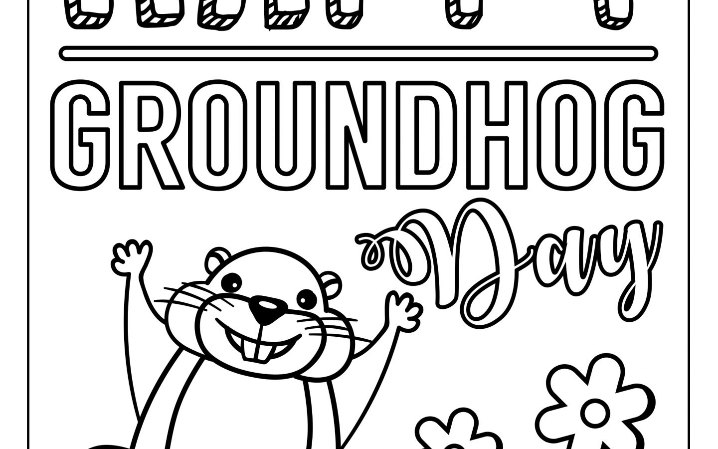 Groundhog Day Coloring Pages Free Printable Groundhog Day Coloring ...
