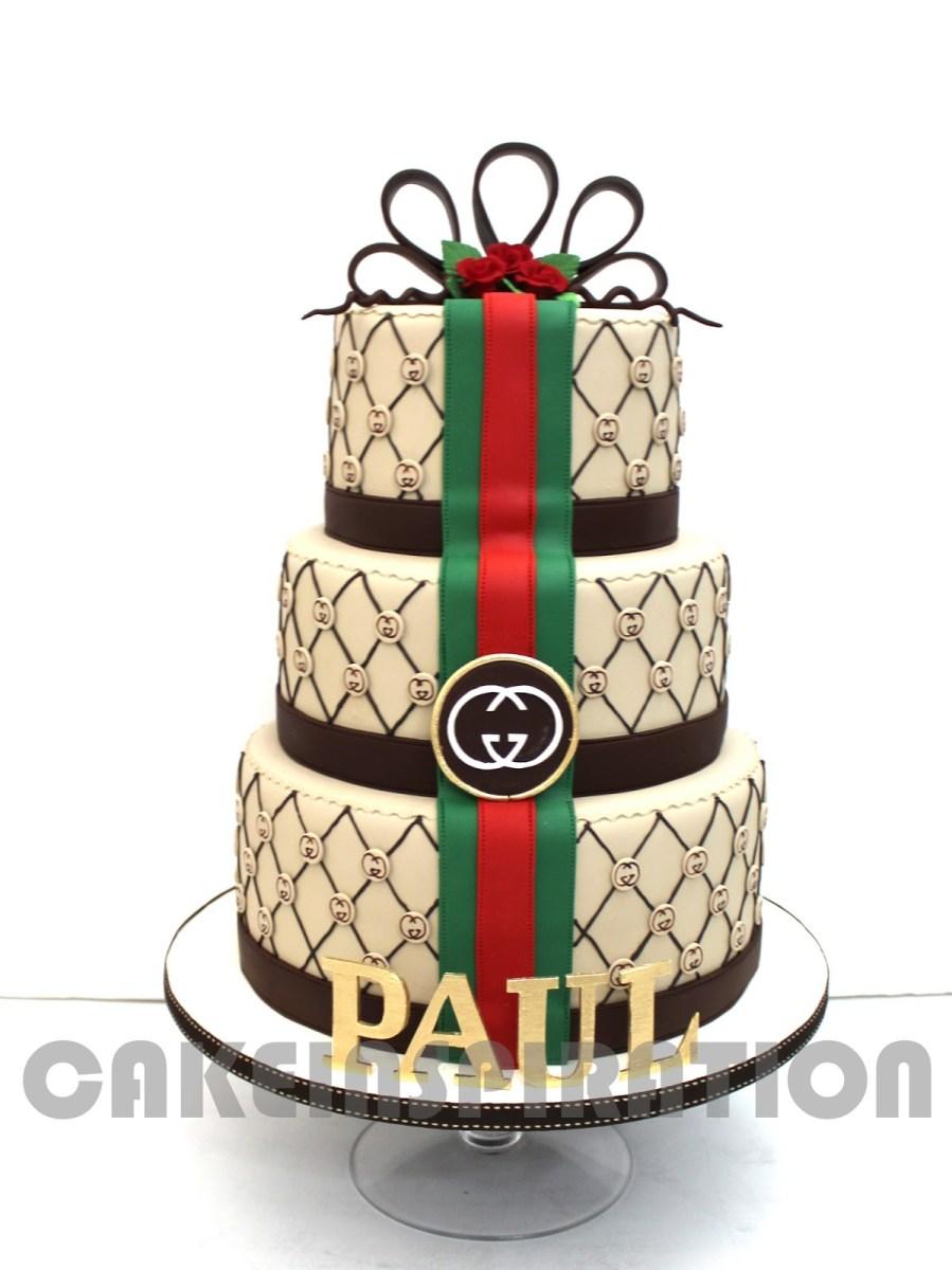 Gucci Birthday Cake 3d Elegant Gucci Theme Designer Cake For Vip Friend Birthday Cake