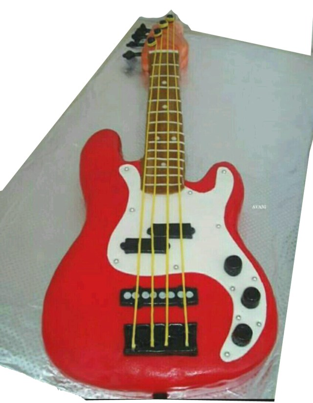 Guitar Birthday Cake Celebrate Your Best Guitarist Birthday With This Guitar Cake Giftzbag