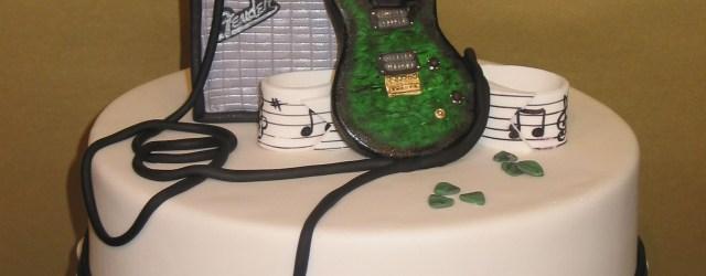 Guitar Birthday Cake Guitar Music Birthday Cake Cakes Guita