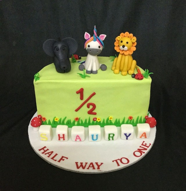 Half Birthday Cake Online Customized Cakes Delivery I Bangalore L Theme Miras