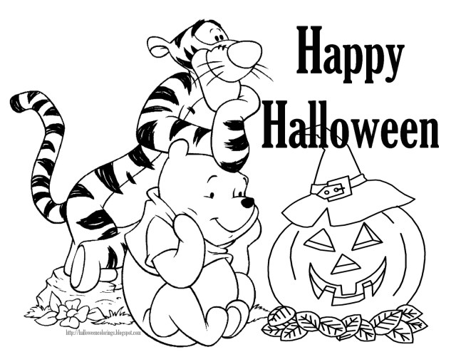 Halloween Coloring Pages Printable Free Disney Halloween Coloring Pages Lovebugs And Postcards