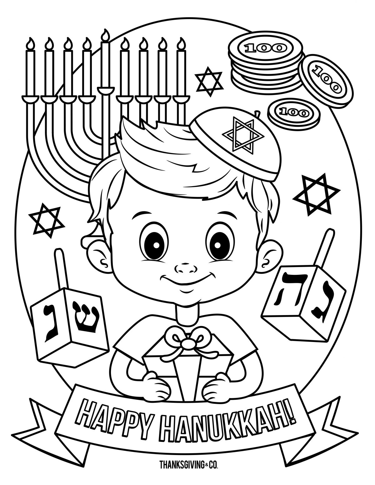 Hanukkah Coloring Pages 4 Hanukkah Coloring Pages You Can Print And
