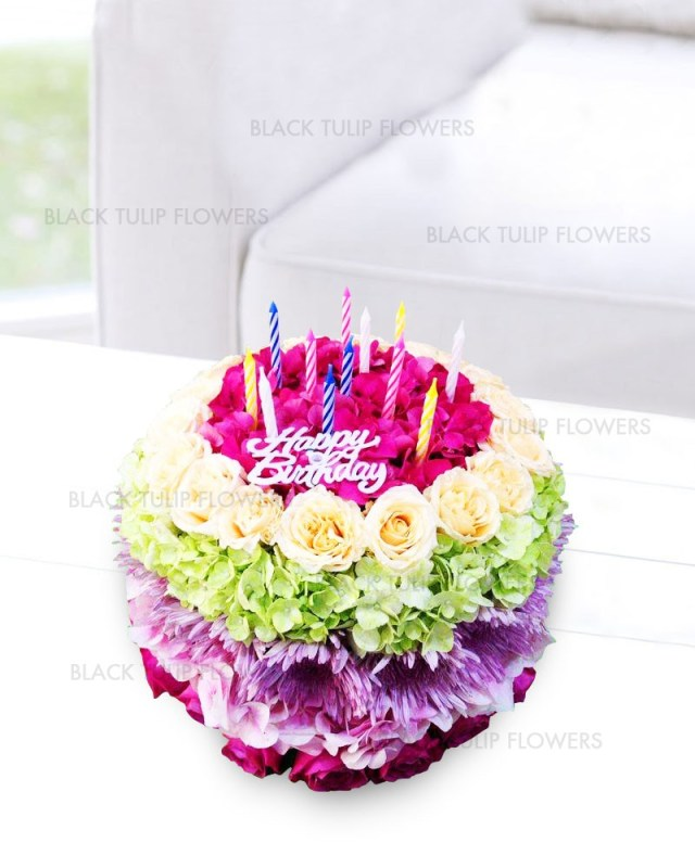 Happy Birthday Cake And Flowers Images Happy Birthday Cake Bouquet