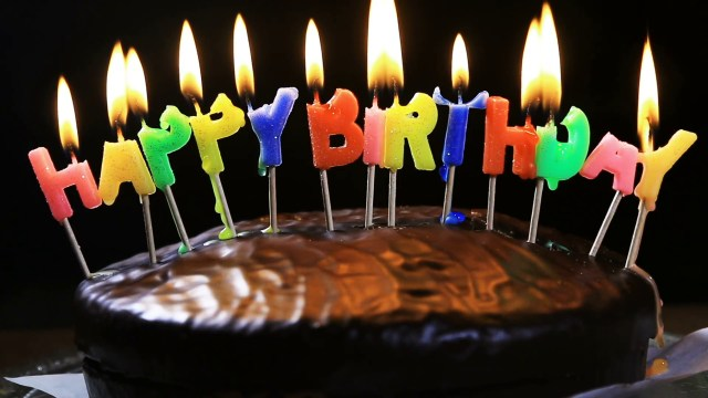 Happy Birthday Cake Pictures Lighted Candles On A Happy Birthday Cake Candles With The Words