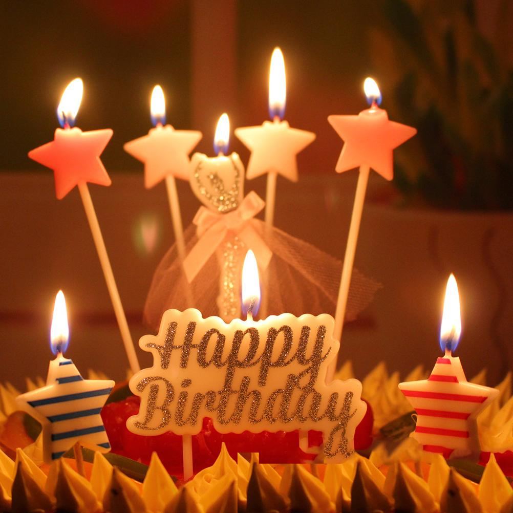 Happy Birthday Cake With Candles 2019 6 Design Birthday Cake Candles