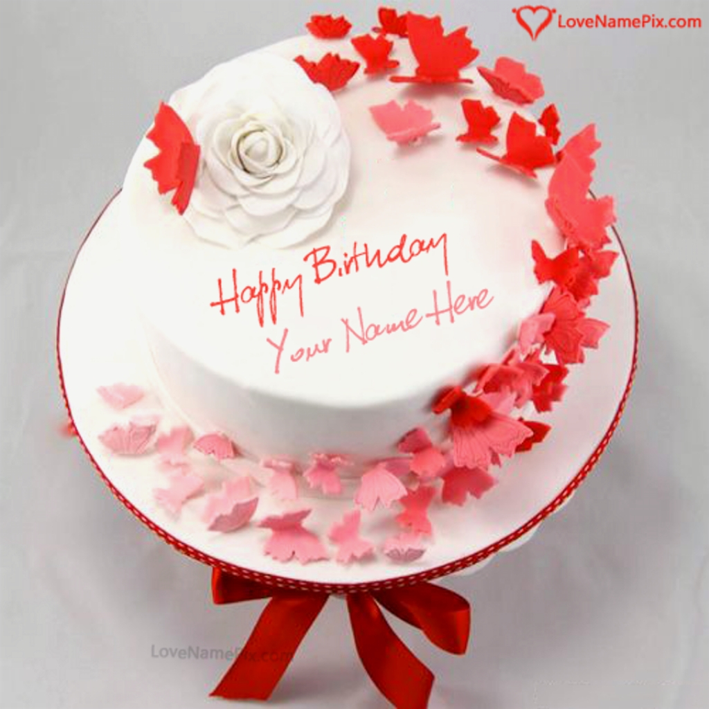 Happy Birthday Cakes With Name Names Beautiful Template Ecoot