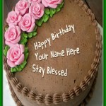 Happy Birthday Cakes With Name Pin Naidu On Laila Birthday Cake Roses Birthday Cake Cake