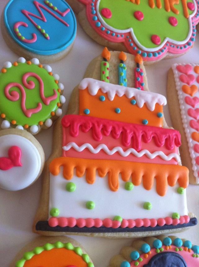 Happy Birthday Cookie Cake Birthday Cakes W Birthday And Birthday Cake Cookies Pinterest