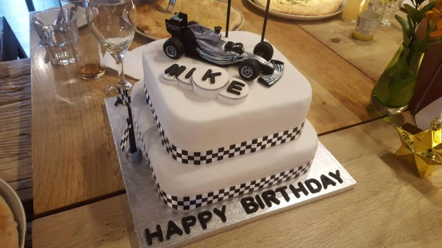 Happy Birthday Mike Cake Hand Crafted F1 Themed Cake For My Dads 50th Happy Birthday Mike