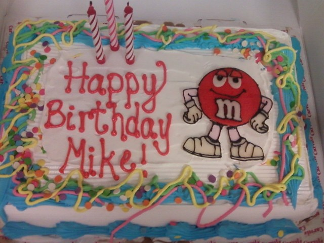 Happy Birthday Mike Cake Mikes Birthday Cake Punkins Cake Shoppe