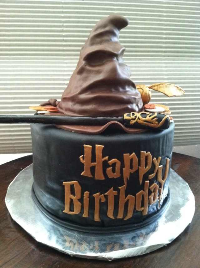 Harry Potter Birthday Cake Harry Potter Sorting Hat Birthday Cake Cakecentral