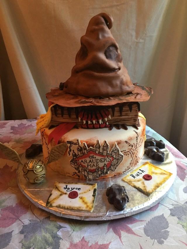 Harry Potter Birthday Cake Homemade Harry Potter Birthday Cake With Butter Beer Cake And Icing