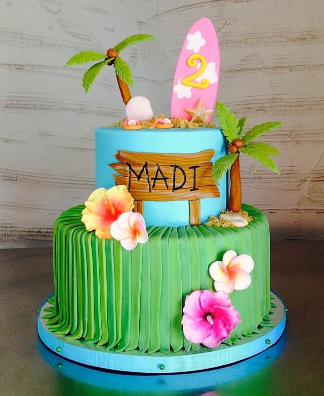 Hawaiian Birthday Cakes Hawaiian Beach 2nd Birthday Cake Sasa Flickr