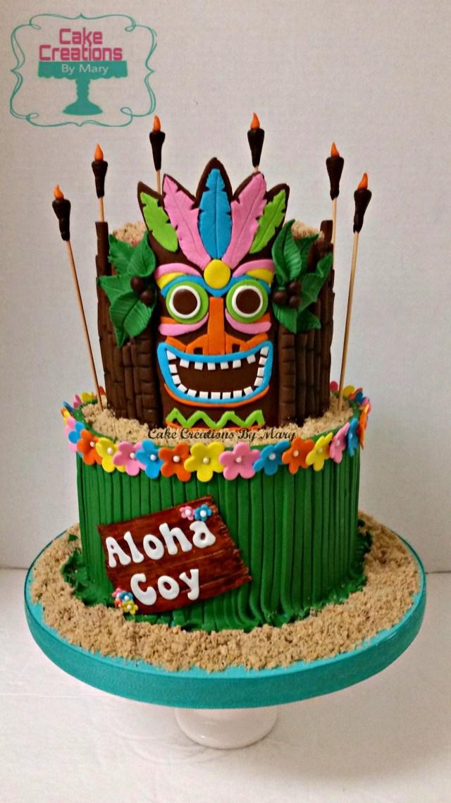 Hawaiian Birthday Cakes Hawaiian Cake Hawaiian Cakes Luau Pinte