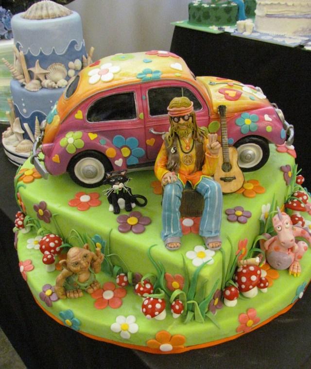Hippie Birthday Cake Hippie Birthday Cake Cakepins Fun Birthdayparty Ideas