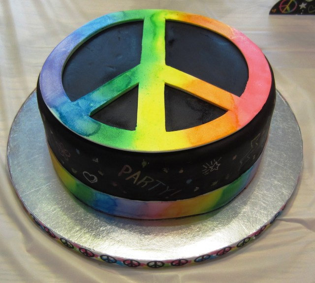 Hippie Birthday Cake Hippy Birthday Cakes