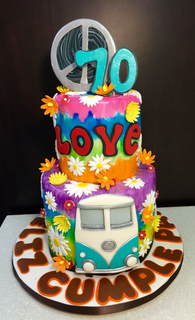 Hippie Birthday Cake Hippy Cake Creative Cakes Cake Hippie Cake Birthday Cake