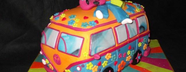 Hippie Birthday Cake Hippy Cakes Hippy Camper Van Cake Tats Pinterest Cake
