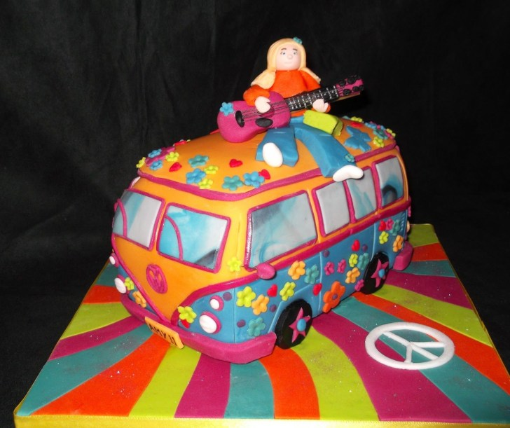 34+ Elegant Photo of Hippie Birthday Cake