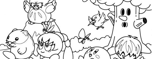 Kirby Coloring Pages Kir Buckets Coloring Pages Water Kir Coloring Pages Kids