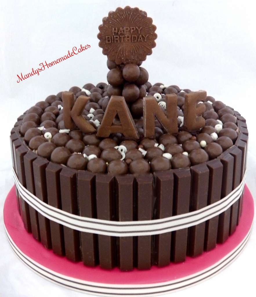 Kit Kat Birthday Cake Malteser Kitkat Celebration Mandys Homemade Cakes