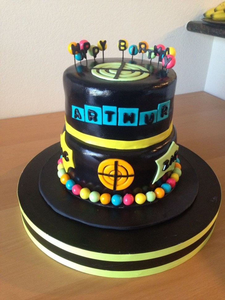 34+ Creative Photo of Laser Tag Birthday Cake