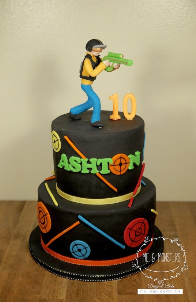 Laser Tag Birthday Cake Laser Tag Theme Party Cakes Laser Tag Birthday Laser Tag
