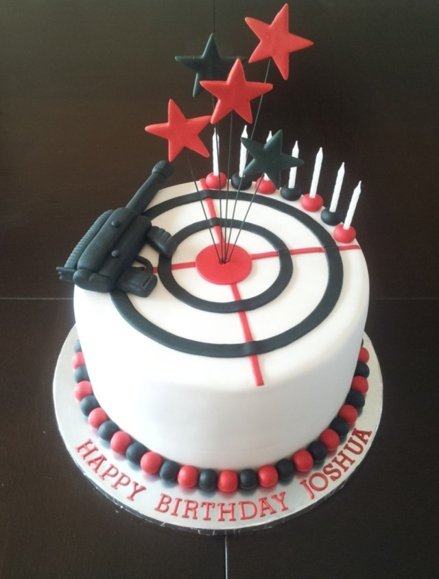 Laser Tag Birthday Cake Laser Tag Themed Boys Birthday Cake Cakecentral