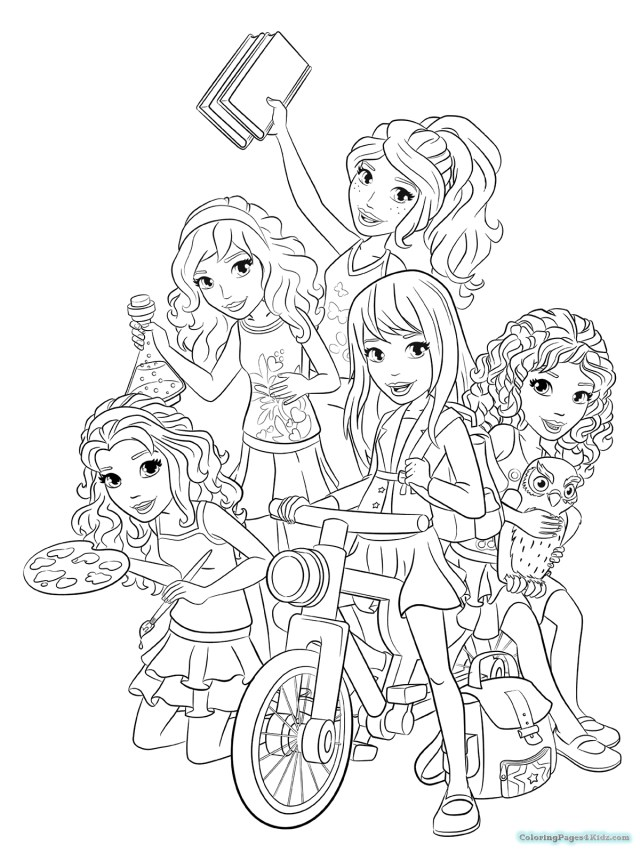 Lego Coloring Pages Coloring Pages Friends Coloring Page Coloring Pages Lego Friends