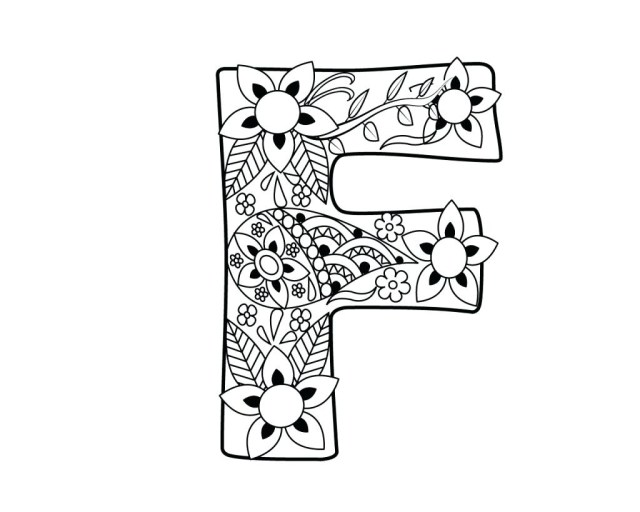 Letter F Coloring Page The Letter F Coloring Pages Photo Album Sabadaphnecottage