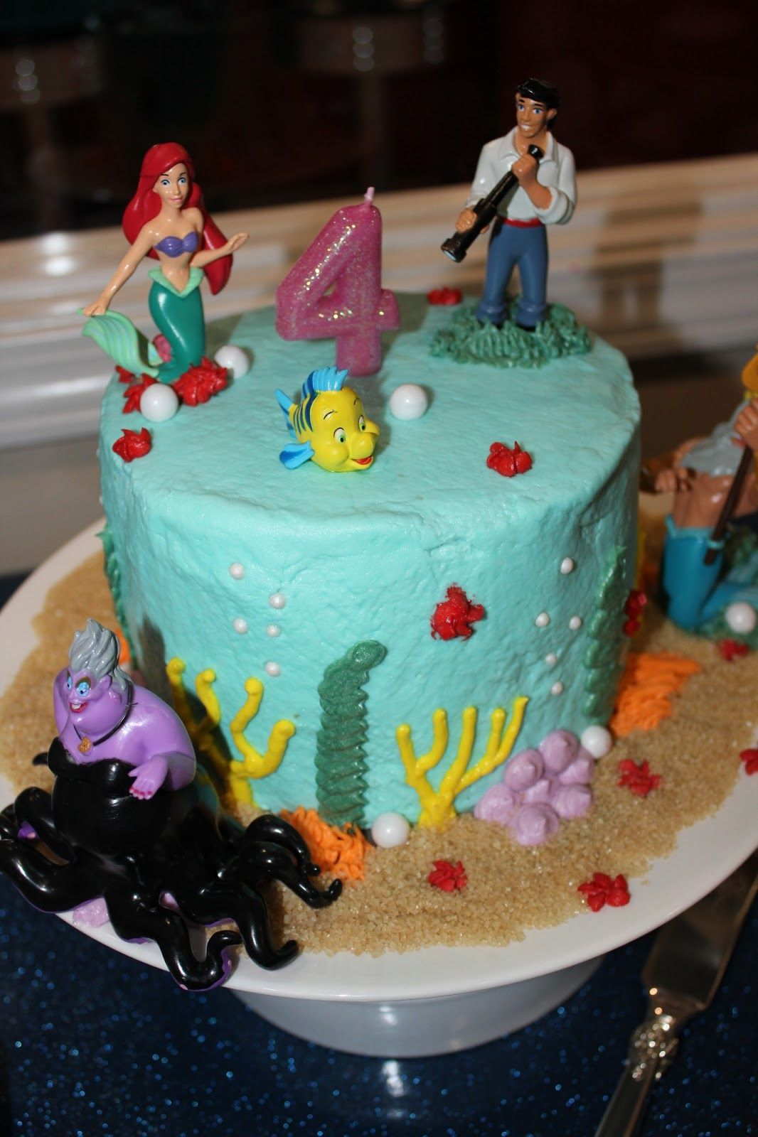 Little Mermaid Birthday Cake Walmart Ideas Ariel Geovannas 3rd