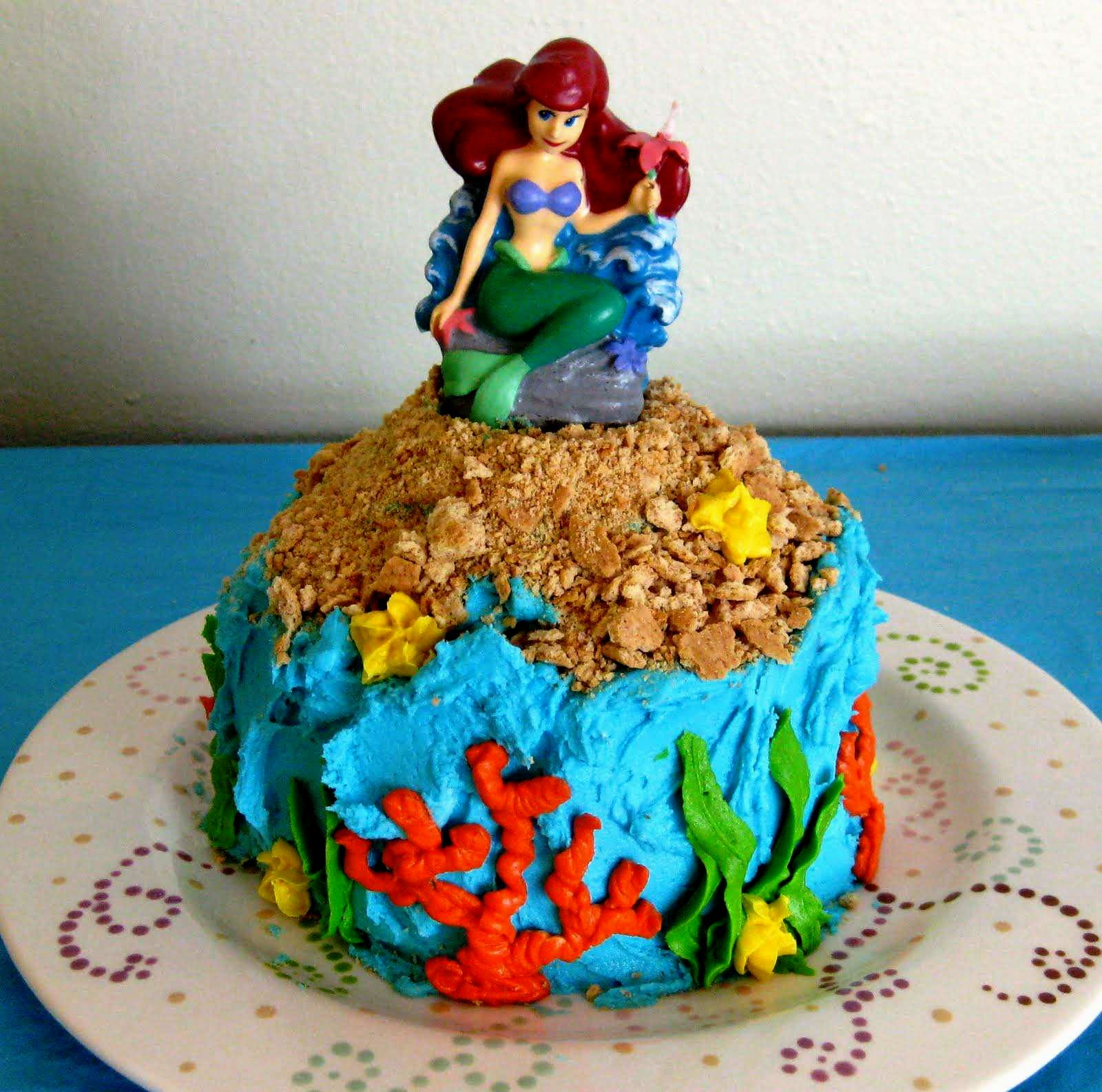 Little Mermaid Birthday Cake Walmart Ideas Enchanting Cakes For Cute Child Party