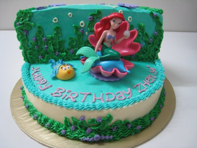 Little Mermaid Birthday Cake Walmart Little Mermaid Birthday Cakes Ideas Wedding Academy Creative