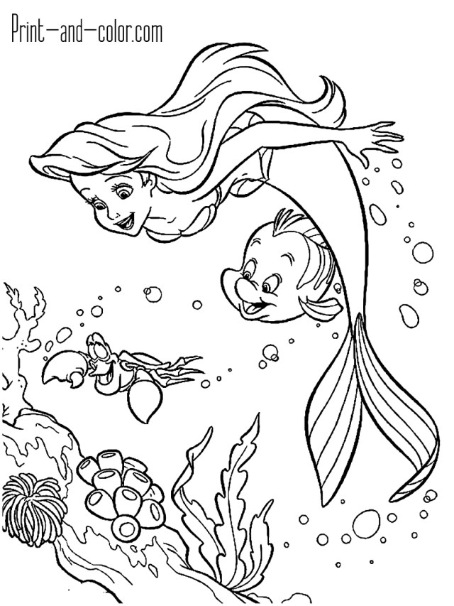 Little Mermaid Coloring Pages The Little Mermaid Coloring Pages Print And Color