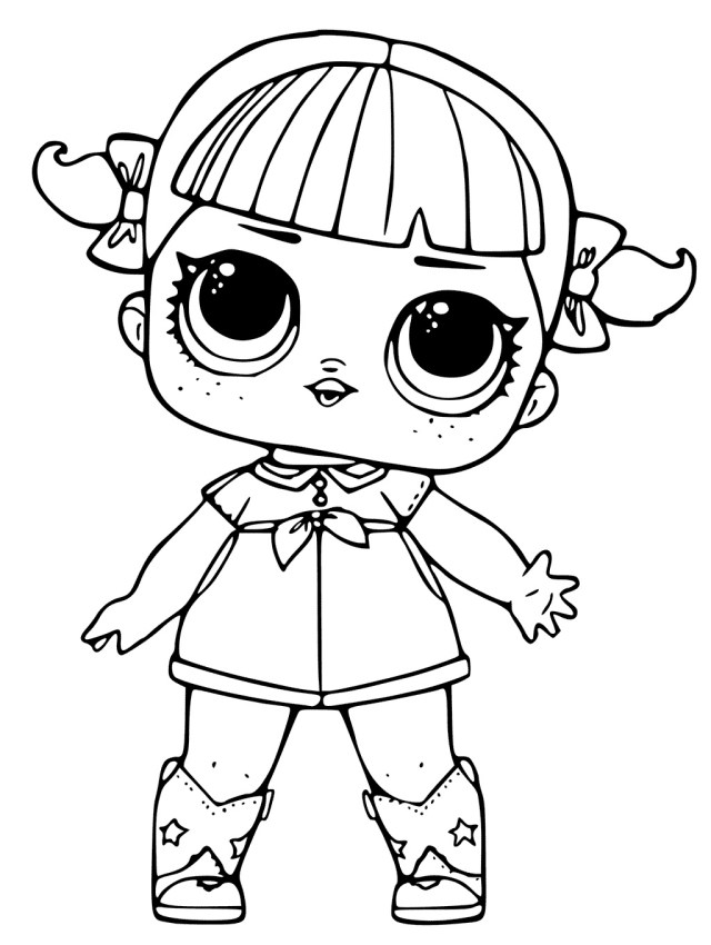 Lol Coloring Pages Coloring Pages Of Lol Surprise Dolls 80 Pieces Of Black And White