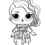 Lol Coloring Pages Lol Surprise Doll Rocker Coloring Page Free Printable Coloring Pages