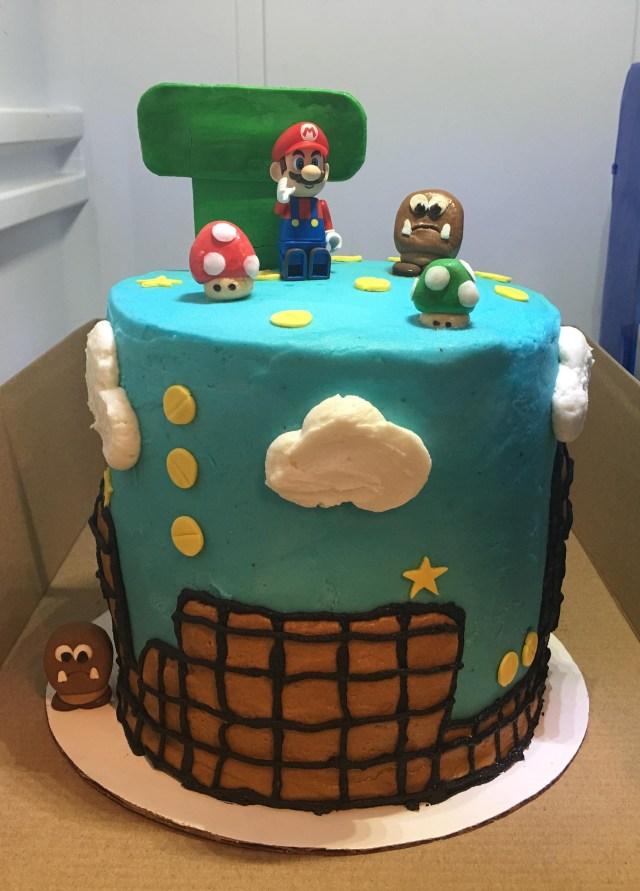 Mario Birthday Cake My Mario Themed Birthday Cake Mario