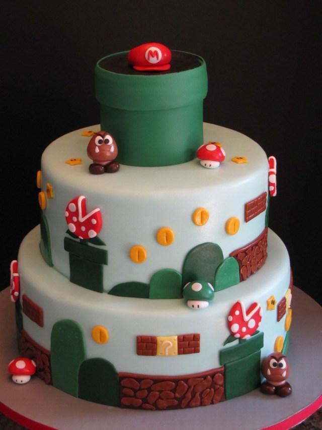 Mario Birthday Cake Super Mario Brothers Birthday Cake Cakecentral